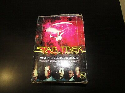 1979 Topps Star Trek The Motion Picture Unopened Wax Box CC15
