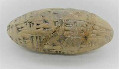 Circa 3000Bc Ancient Near Eastern Clay Tablet With Early Form Of Writing