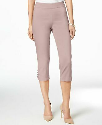 JM Collection Womens Pants Pink Size Small PS Petite Capris Stretch $49- 314