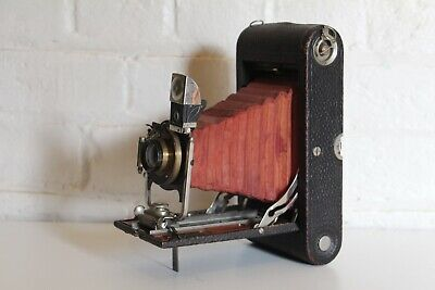 No. 3A Antique Folding Pocket Camera - Model B-4 - Working - RED BELLOWS