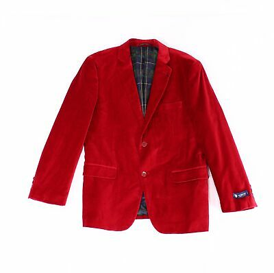 Designer Brand Mens Suit Seperate Red Size 42 LongTwo Button Blazer $99 498