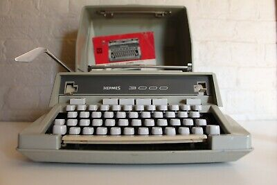 Hermes 3000 Typewriter - Fully Working / Serviced + Case and Manual