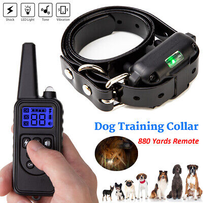 Dog Shock Collar Remote Electric Puppy Training Collar Waterproof Large 880 Yard