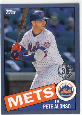2020 Topps Series 1 1985 Insert Blue Parallel #63 Pete Alonso New York Mets