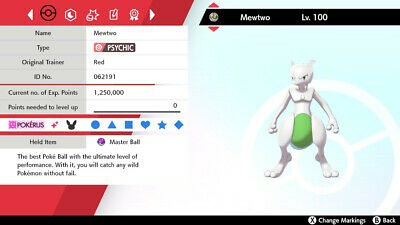 ✨Shiny✨ 6IV Mewtwo W/Master Ball Pokemon Sword and Shield (FAST DELIVERY)