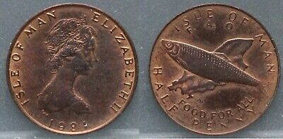 Isle of Man - half penny 1981 - 1/2 penny 1981 FAO - nice and rare!