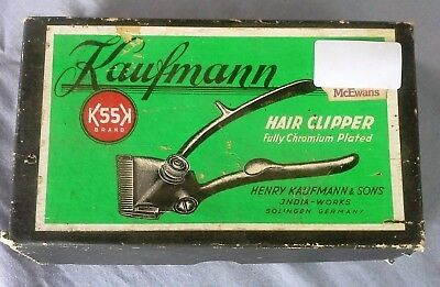 Vintage Collectable Kaufmann Hair Clipper in Original Box Germany