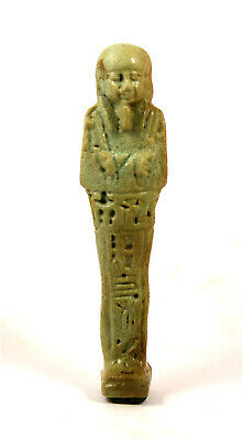 Egypt Late period 28/30th dynasty faience ushabti of Ptah-Hotep