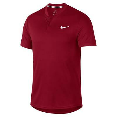 Nike Court Dry Tennis Polo Blade Shirt Crimson Red Size Large AQ7732-613