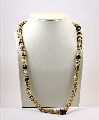 Pre-Columbia Peru the Chimu State a Chimu gold,silver and shell beaded necklace