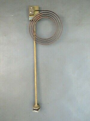 Vintage brass mantel clock chime gong with metal coil spares parts
