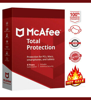 McAfee Total Protection 2020 Antivirus 🔥 1 Devices 6 Years 🔥 Instant Delivery