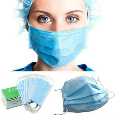 50 Disposable Surgical Face Mask For Virus & Flu Protection + Elastic Ear Loop