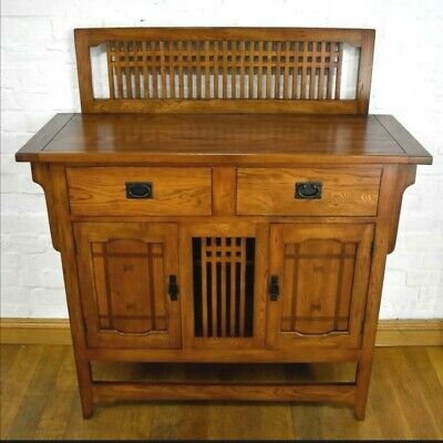 Arts and crafts style stunning buffet cupboard/sideboard