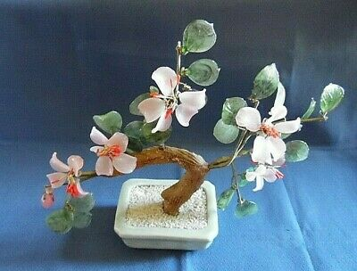 Vintage Chinese Bonsai Flower Tree