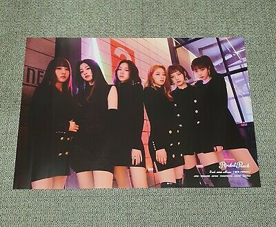 K-POP ROCKET PUNCH 2nd Mini Album [RED PUNCH] B Ver. OFFICIAL POSTER -NEW-