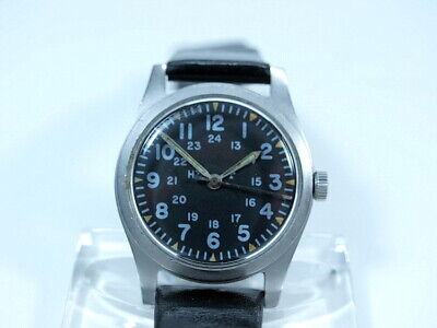 HAMILTON WRIST WATCH US Army General Purpose Vietnam Krieg 1970 Militäruhr HAU