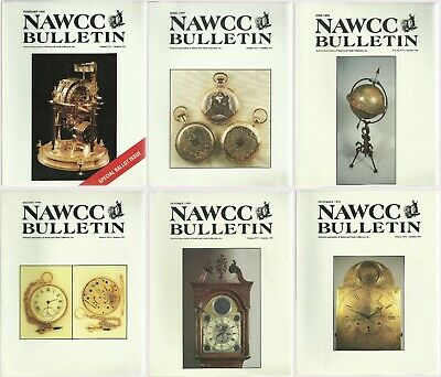 Lot of NAWCC Bulletins Watch & Clock Collectors 1995 Full Set of 6 Issues