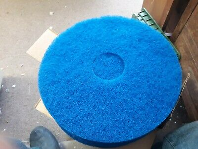 "5 Blue Cleaning Floor Maintenance Pads Premiere Pads 14"" Made In Usa"