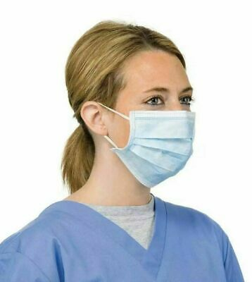 Disposable Face Mask Medical Surgical Dust Proof  Anti Bacteria 3 Ply 50 Pieces