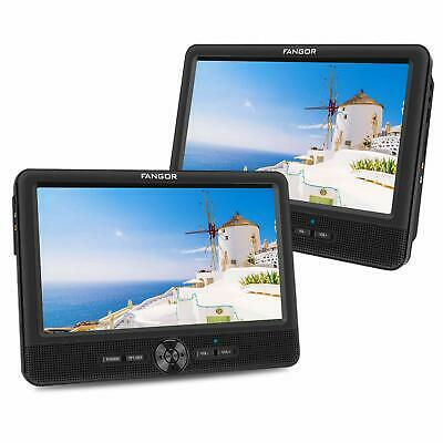 FANGOR 10.1'' Inch Car DVD Player Dual Screen, Headrest Video Player with 5 Hour