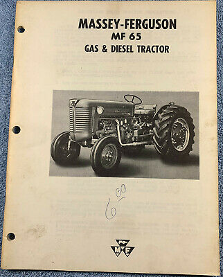 Massey Ferguson MF-65 Gas & Diesel Tractor Owners Manual   Free Shipping