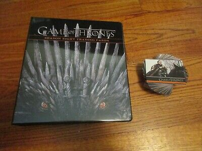 2020 Game of Thrones Season 8 Base Set & Official Album / Binder Series Eight