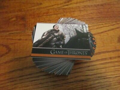 2020 Game of Thrones Season 8 Complete 60 Card Base Set & Promo P1 Series Eight