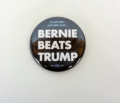 Bernie Sanders For President 2020 Official Campaign Pin Button Beats Trump