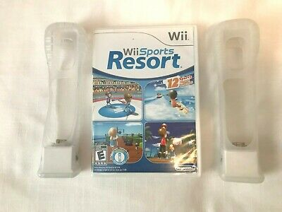 Wii Sports Resort Game With 2 Motion Plus Adapters in Gel Sleeves Nintendo Wii