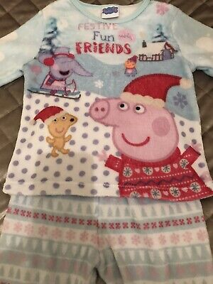 Peppa Pig Girls Fleece Pyjamas Aged 4-5 years
