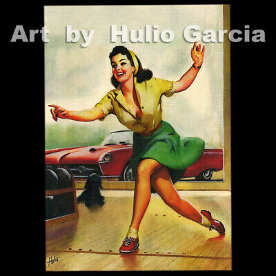 PAINTING PORTRAIT PIN UP GIRL POT LUCK GAMBLE WIN COINS FINE ART POSTER CC3507