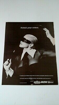 "Madonna   ""Submit Your Order"" 1992 Rare Original Print Promo Poster Ad"
