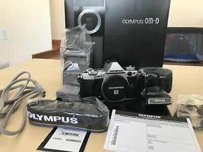 Olympus OM-D E-M5 Mark II Digital Camera - Silver (Body Only) Low Shutter Count!