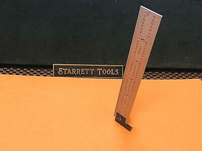 "STARRETT No. CH604R  6"" Long Hook Spring-Tempered Steel Rule With 4R Graduation."