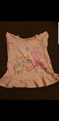 Girls peppa pig Top age 2-3 years