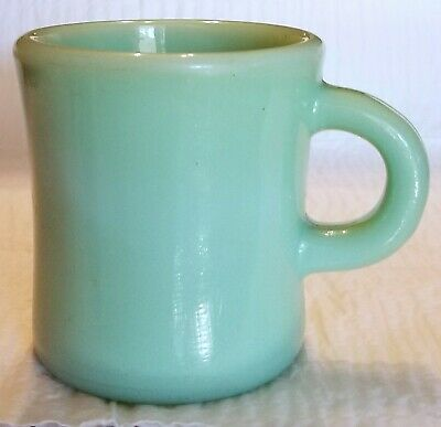 VTG 1940s Jadite Fire King Restaurant Ware C Handle Coffee Cup Mug Heavy Duty