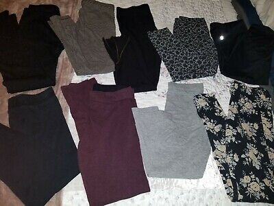 women's leggings lot size medium 9 pairs!!