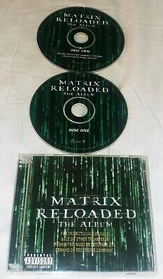 MATRIX RELOADED: The Album [PA] Soundtrack CD 2003 Maverick 2CD SET PROMO