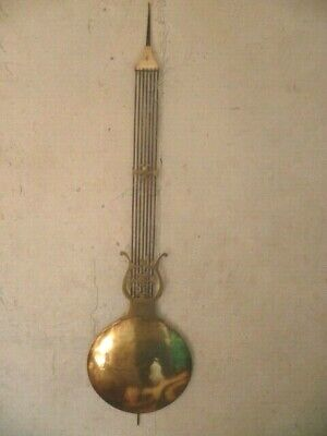 Handl, Lyre Brass Clock Comtoise Clock End 19th