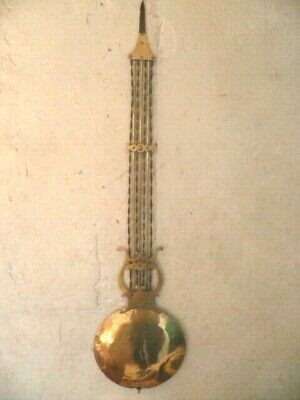 Handl, Lyre Brass Clock Comtoise Clock End XIX