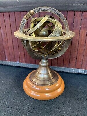 Vintage Brass Armilliary Sphere Globe Retro Ships From Melbourne