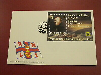 1999 Isle of Man Stamps First Day Cover- Royal National Lifeboat Institute Sheet
