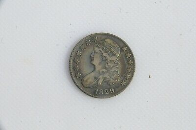1829 Capped Bust Silver Half Dollar 12 Ungraded RELISTED ZOOM IN