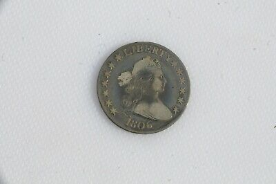 1806 Capped Bust Silver Half Dollar 11 Ungraded RELISTED ZOOM IN