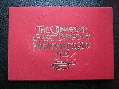 UK British 1973 Royal Mint Proof 6 Coin Collection Set: 1/2 - 50 Pence ~ Cased