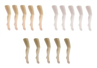 Girls Plain Lycra Thin Summer Wedding Party 20 Den Tights  Size 4-11+Years White