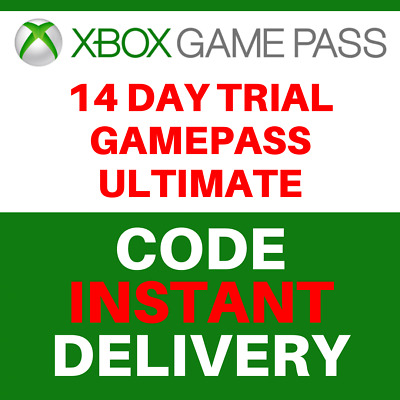 Xbox Game Pass Ultimate 14 Day Trial Membership Code - 2 Weeks - Xbox one, PC