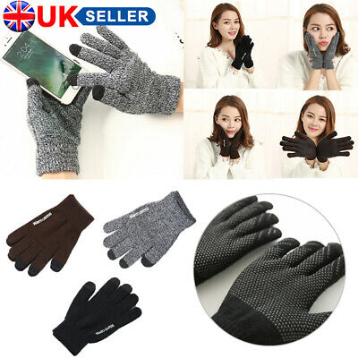 Winter Warm Touchscreen Gloves for Women Men Knit Wool Lined Texting UK