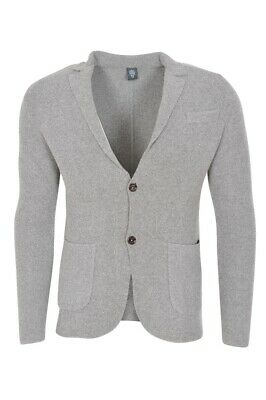 Eleventy Blazer Men's L SALE !! Gray Slim Fit Twill Cotton